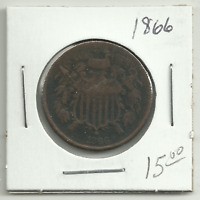UNITED STATES 1866 TWO-CENT PIECE