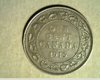 1915 CANADA LARGE CENT HIGH GRADE BRONZE COINS  CAN 417