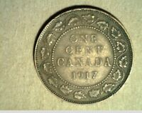 1917 CANADA LARGE CENT HIGH GRADE BRONZE COINS  CAN 418