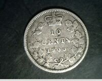 1900 CANADA TEN CENTS MEDIUM TO HIGH GRADE CIRCULATED .0691 OZ SLV  CAN 623