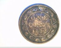 1882 H CANADA 1 PENNY HIGH GRADE CIRCULATED BRONZE  CAN 531