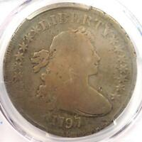 1797 DRAPED BUST SMALL EAGLE SILVER DOLLAR $1 - PCGS VG DETAILS -  COIN