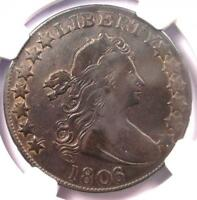1806/5 DRAPED BUST HALF DOLLAR 50C COIN O-101 - CERTIFIED NGC VF20 - $1000 VALUE