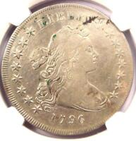 1796 SMALL EAGLE DRAPED BUST SILVER DOLLAR $1 COIN - CERTIFIED NGC VF DETAIL