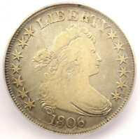 1806 DRAPED BUST HALF DOLLAR 50C COIN - CERTIFIED ICG F12 -  COIN