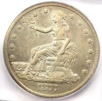 1877-CC TRADE SILVER DOLLAR T$1 COIN - ICG VF35 DETAILS - CARSON CITY - NEAR EXTRA FINE