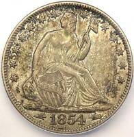 1854-O ARROWS SEATED LIBERTY HALF DOLLAR 50C - ICG AU58 -  DATE COIN