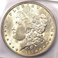 1897-O MORGAN SILVER DOLLAR $1 - CERTIFIED ICG MINT STATE 62 BU UNC - $2,500 VALUE