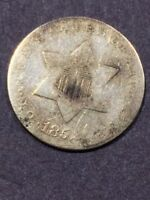1852 3CS THREE CENT SILVER -  COIN