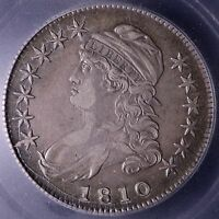 1810 CAPPED BUST HALF DOLLAR ICG EF40 EXTRA FINE 40 5-14WEFT