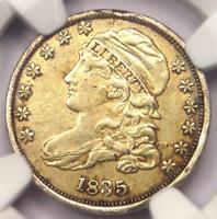 1835 CAPPED BUST DIME 10C - NGC AU DETAILS -  EARLY DATE - CERTIFIED COIN
