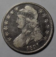 1831 CAPPED BUST HALF DOLLAR VF  FINE