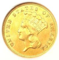 1859 THREE DOLLAR INDIAN GOLD COIN $3 - CERTIFIED ANACS EXTRA FINE 45 EF45 -  DATE
