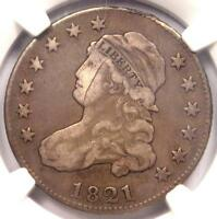 1821 CAPPED BUST QUARTER 25C - NGC VF DETAILS -  COIN -  DATE