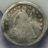 1856 O SEATED LIBERTY SILVER HALF DIME    DOUBLEJCOINS  162 29