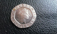 RARE 20P COIN UNDATED BOTH SIDES
