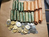 $193 FACE CANADIAN COINS CANADA MONEY $2 TO 5 CENT EXCHANGE CASH WORLD COIN LOT