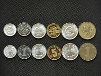 CHINA SETS OF COINS. 1 2 5 FEN. 1 5 JIAO. 1 YUAN UNC. 6PCS RANDOM AGE. LOT