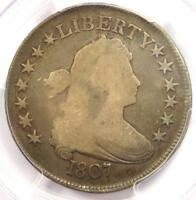 1807 DRAPED BUST HALF DOLLAR 50C COIN O-109A - CERTIFIED PCGS VG10 -  COIN