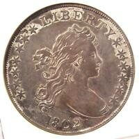 1802 DRAPED BUST SILVER DOLLAR $1 COIN B-6 - ANACS EXTRA FINE 45 EF45 - $5,000 VALUE