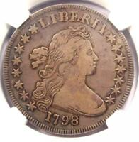 1798 SMALL EAGLE DRAPED BUST SILVER DOLLAR $1 - NGC VF DETAILS -  VARIETY