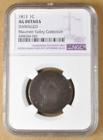 1813 CLASSIC HEAD LARGE CENT NGC AG DETAILS