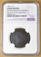 1812 CLASSIC HEAD LARGE CENT NGC GOOD DETAILS