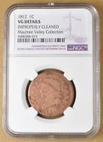 1812 CLASSIC HEAD LARGE CENT NGC VG DETAILS