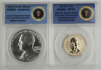 2015 COIN & CHRONICLES SET TRUMAN REVERSE PROOF  $11 OZ SILVER MEDAL ANACS RP70