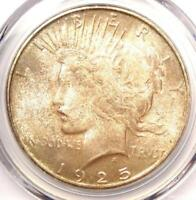 1925-S PEACE SILVER DOLLAR $1 - PCGS MINT STATE 64 CAC PQ