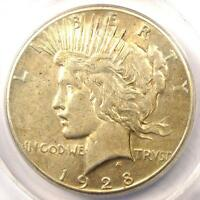 1928 PEACE SILVER DOLLAR $1 - CERTIFIED ANACS AU50 -  1928-P KEY DATE COIN