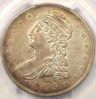 1838 CAPPED BUST HALF DOLLAR 50C - PCGS EXTRA FINE  DETAILS EF -  CERTIFIED COIN