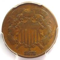 1872 TWO CENT COIN 2C - CERTIFIED PCGS F15 -  KEY DATE - $725 VALUE