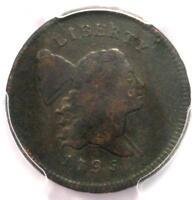 1795 LIBERTY CAP FLOWING HAIR HALF CENT 1/2C PUNCTUATED DATE - PCGS VF DETAILS