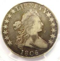 1806/5 DRAPED BUST HALF DOLLAR 50C COIN LARGE STARS - CERTIFIED PCGS VF DETAILS