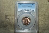 GORGEOUS BU MINT STATE 1927 MINT STATE 66 RED LINCOLN CENT GRADED BY PCGS