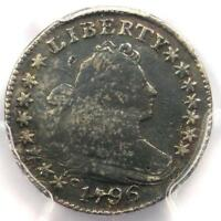 1796 DRAPED BUST DIME 10C JR-6 - PCGS FINE DETAILS -  FIRST YEAR COIN