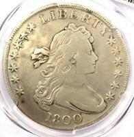 1800 DRAPED BUST SILVER DOLLAR $1 - CERTIFIED PCGS FINE DETAILS -  COIN