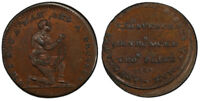 BRITAIN MIDX. 18THC. ND CU FARTHING TOKEN PCGS MS63BN SLAVE IN CHAINS D&H 1118