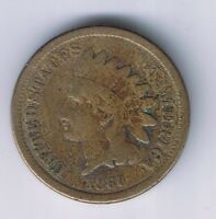 1860 INDIAN HEAD CENT COPPER NICKEL 1 PENNY COIN AMERICAN RELIC