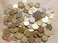 1 POUND FOREIGN OF COINS FROM GERMANY ONE LB GERMAN WORLD LOT MARKS PFENNIG NICE
