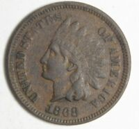 1868 INDIAN HEAD CENT SUPERB HIGH GRADE COIN SEMI KEY DATE NICE BROWN 1C COIN
