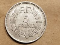 1947 FRANCE 5 FRANCS FRENCH ALUMINUM COIN