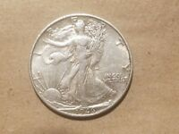 1946 S WALKING LIBERTY HALF DOLLAR 50 CENTS SILVER COIN FIFTY CENTS 1/2 AU NICE