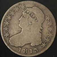 1813 CAPPED BUST HALF DOLLAR    USA