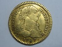 1787 POPAYAN 1 ESCUDO CHARLES III COLOMBIA SPANISH GOLD COIN