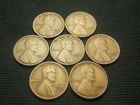 1916-S 1920-S 1921-S 1924-S 1925-S 1927-S 1928-S ALL VF OR BETTER LINCOLN  CENTS