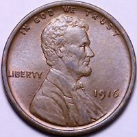 BU 1916 LINCOLN WHEAT CENT PENNY       J1WCE