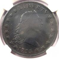 1795 FLOWING HAIR SILVER DOLLAR $1 COIN - NGC FINE DETAILS -  COIN