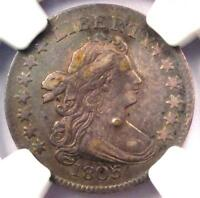 1805 DRAPED BUST DIME 10C JR-2 - CERTIFIED NGC VF DETAILS -  COIN